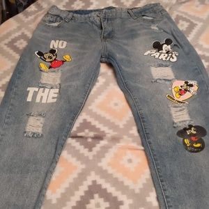 Mickey Mouse Women's Blue Jeans!